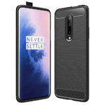 Flexi Slim Carbon Fibre Case for OnePlus 7 Pro - Brushed Black
